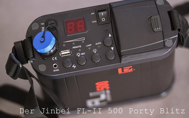 Jinbei FL-II 500 Porty Blitz Header