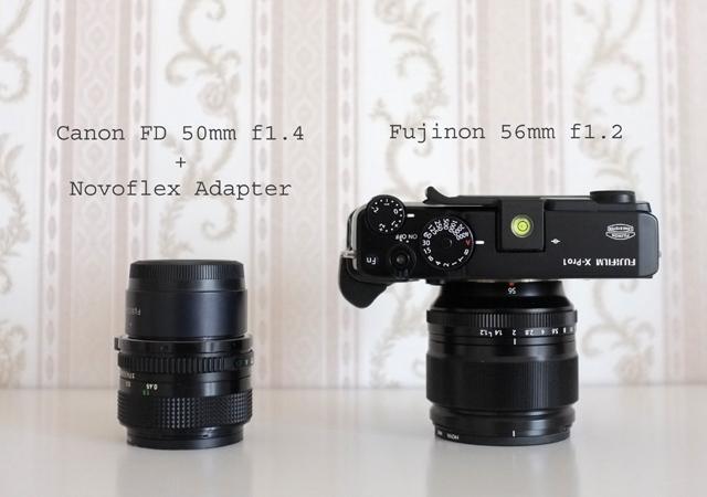 Fujinon 56mm 1.2 vs Canon FD 50mm 1.4