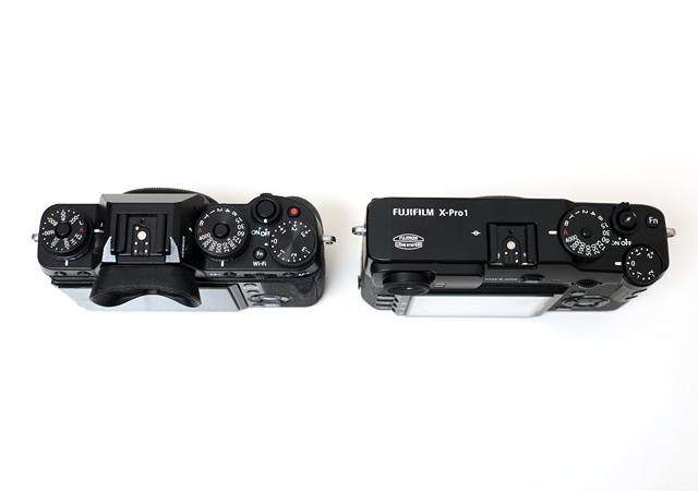 Dicke Fujifilm X-T1 neben Fuji X-Pro 1