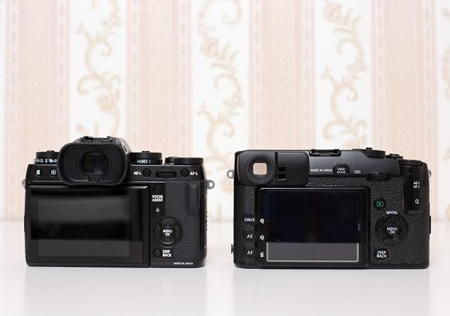 Fujifilm X-T1 neben Fuji X-Pro 1