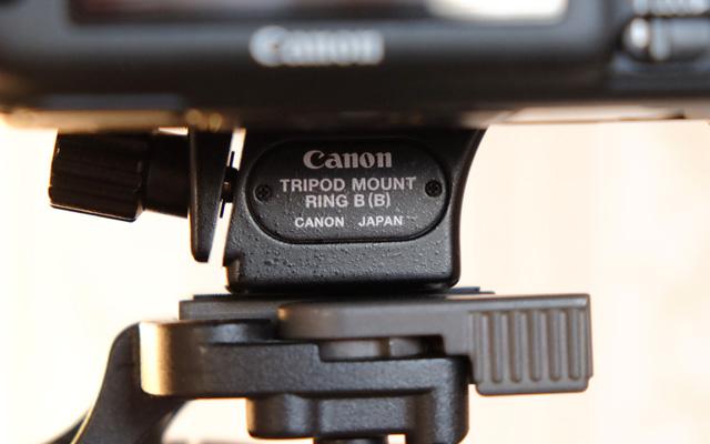Stativschelle für das Canon 100mm Makro Objektiv