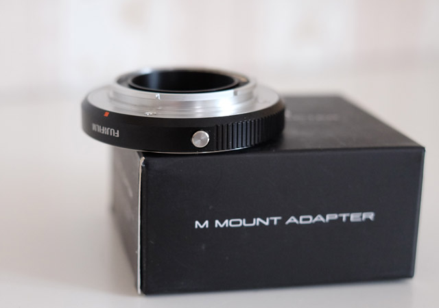 Objektivadapter menue taste an fujifilm m mount adapter