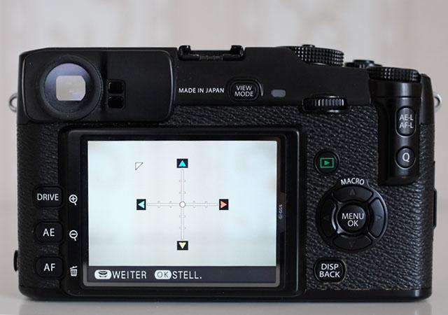 farbsaumkorrektur objektivadapter menue fuji x pro 1