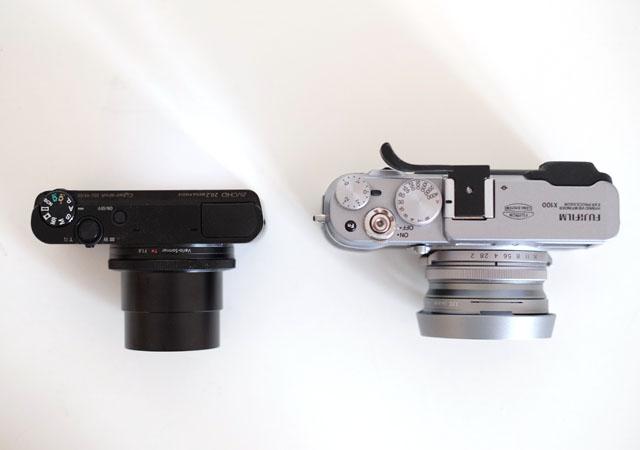 Foto von oben der Sony RX 100 Test