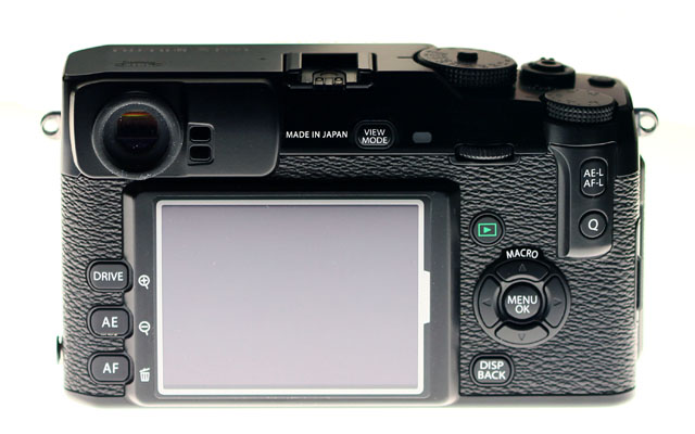 Fuji X Pro 1 Rückseite