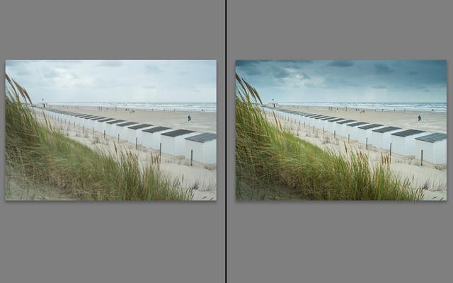 Vergleich Verlaufsfilterwerkzeug in Adobe Lightroom