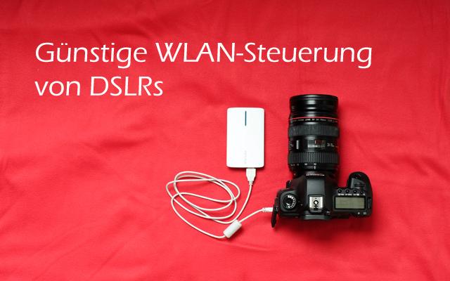 Header drahtlose WiFi WLAN Steuerung DSLR