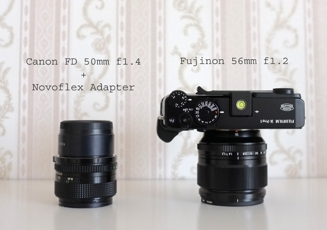 Fujinon 56mm 1.2 vs Canon FD 50mm 1.4