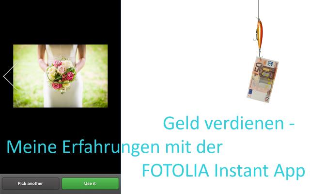 Fotolia Instant App Header