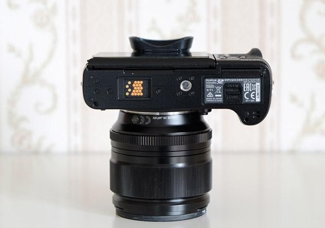 Unterseite Fujifilm XT-1