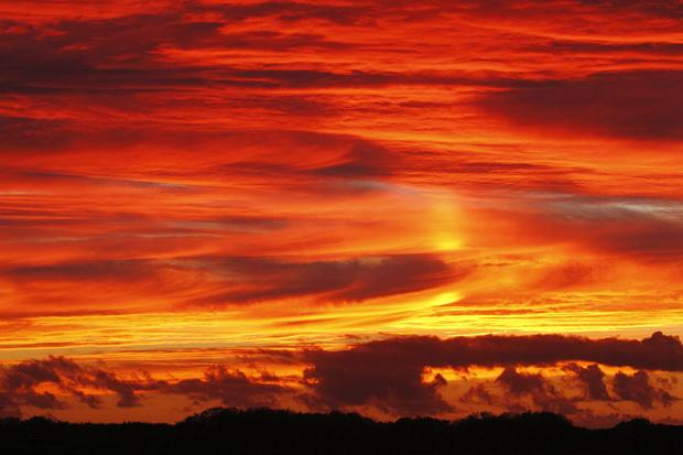 Sonnenuntergang bei De Cockstorp auf Texel, Holland