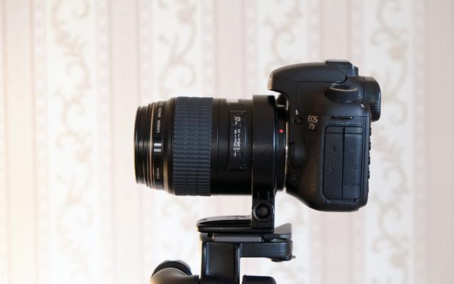 Canon 100mm Makroobjektiv auf Stativ