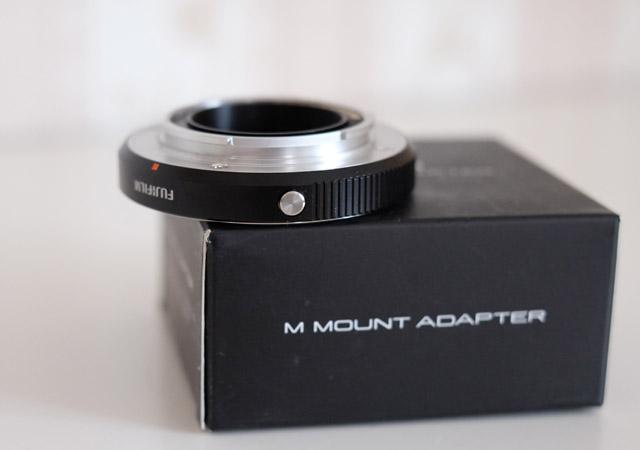 Objektivadapter menue taste an fujifilm m mount adapter