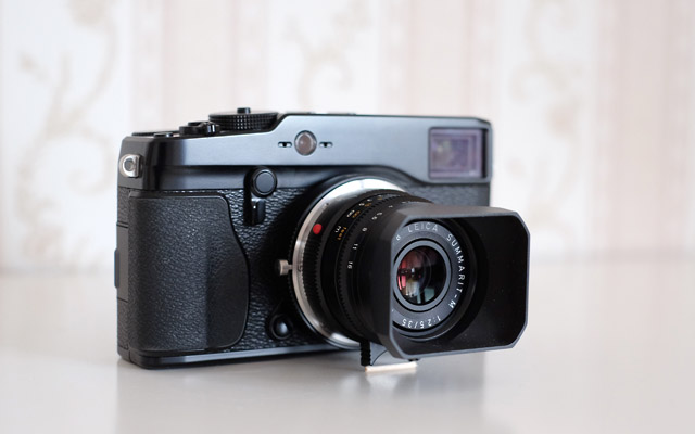 Fuji X Pro 1 mit leica m summarit 35mm objektiv adapter