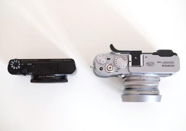 Test Sony RX100 Draufsicht im Vgl Fuji X100