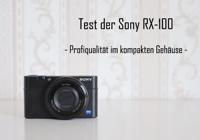 Test der Sony RX 100 meine Erfahrungen